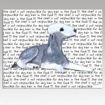 Bedlington Terrier Message Cutting Board - Rectangular