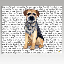 Border Terrier Message Cutting Board - Rectangular