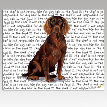Boykin Spaniel Message Cutting Board - Rectangular