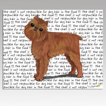 Brussels Griffon Message Cutting Board - Rectangular