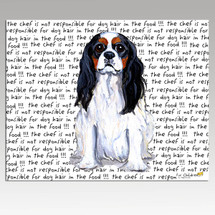 Cavalier King Charles Spaniel Tri Message Cutting  Board-Rectangular
