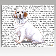 Clumber Spaniel Message Cutting Board - Rectangular