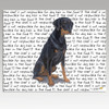 Doberman Uncropped Message Cutting Board - Rectangular