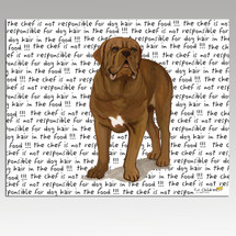 Dogue de Bordeaux Message Cutting Board - Rectangular