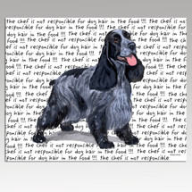 English Cocker Spaniel Message Cutting Board - Rectangular