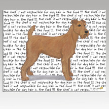 Irish Terrier Message Cutting Board - Rectangular