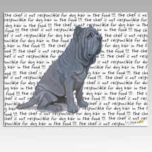 Neopolitan Mastiff Message Cutting Board - Rectangular