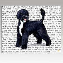 Portuguese Water Dog Message Cutting Board - Rectangular