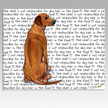 Rhodesian Ridgeback Message Cutting Board - Rectangle