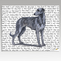 Scottish Deerhound Message Cutting Board - Rectangle
