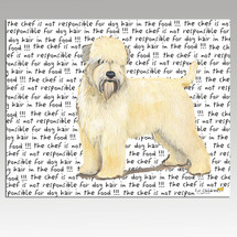 Wheaten Terrier Message Cutting Board - Rectangle