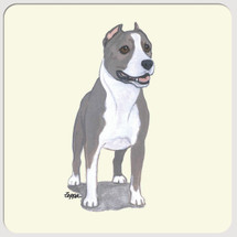 American Staffordshire Terrier Beverage Coasters