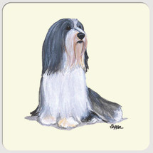 Bearded Collie Beverage Coasters