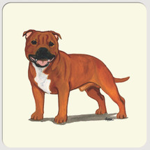 English Staffordshire Terrier Beverage Coasters