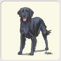 Flat Coated Retriever Beverage Coasters