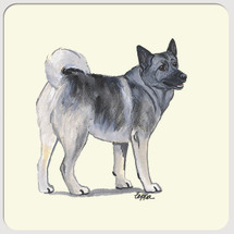 Norwegian Elkhound Beverage Coasters