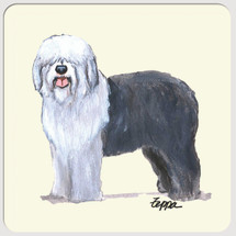 Old English Sheepdog Beverage Coasters