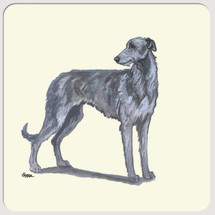 Scottish Deerhound Beverage Coasters