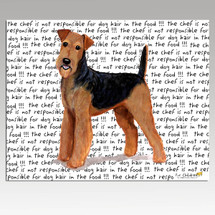 Airedale Message Cutting Board