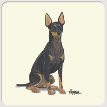 Toy Manchester Terrier Beverage Coasters