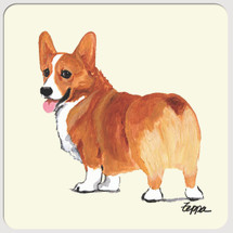 Welsh Corgi Beverage Coasters