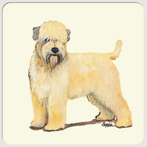 Wheaten Terrier Beverage Coasters