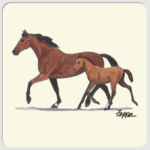 Mare & Foal Beverage Coasters