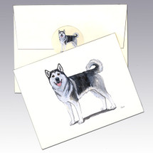 Alaskan Malamute Note Cards