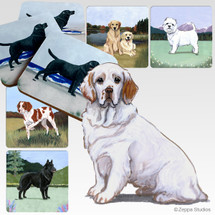 Clumber Spaniel Scenic Coasters
