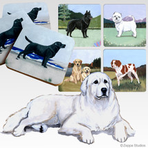 Great Pyrenees Scenic Coasters