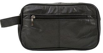 Genuine Leather Mens Toiletry Bag