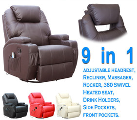 CINEMO  9 in 1 LEATHER RECLINER CHAIR