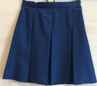 Skirt - 3 Pleat, Navy