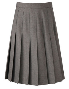 Christian Fellowship School Skirt - Senior Box Pleat, Grey Years 7 - 8