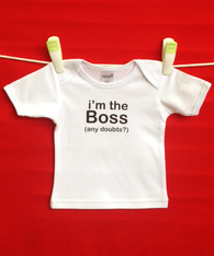 BABY TEE - BOSS (any doubts?)