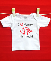 BABY TEE - LOVE MUMMY THIS MUCH