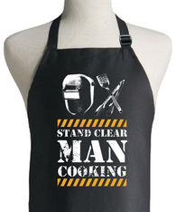MAN STAND CLEAR APRON