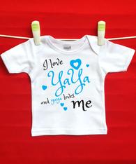 BABY TEE - YAYA AND ME (GREEK GRANDMA)