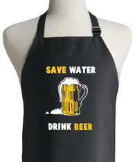 BEER SAVE WATER APRON