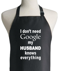 GOOGLE HUSBAND APRON