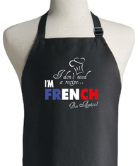 FRENCH RECIPE APRON
