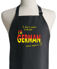 GERMAN RECIPE APRON