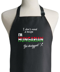 HUNGARIAN RECIPE APRON