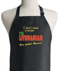LITHUANIAN RECIPE APRON