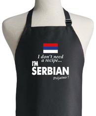 SERBIAN RECIPE APRON