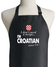 CROATIAN RECIPE APRON