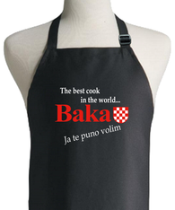 CROATIAN GRANDMOTHER BLACK APRON