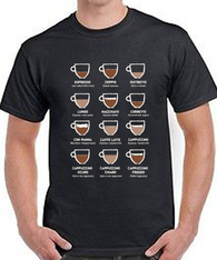 COFFEE ITALIA UNISEX BLACK T-SHIRT
