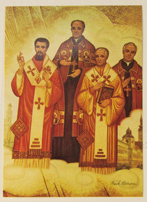 "Holy Card- ""Four Saintly Bishops"" Holy Card pack"