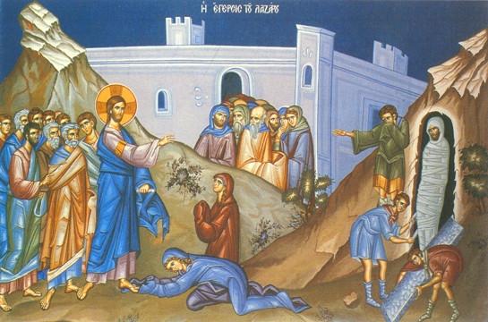 Icon- Raising of Lazarus